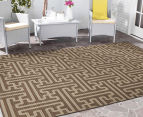 Columns 270x180cm UV Treated Indoor/Outdoor Rug - Malt 2