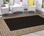 Greek Key 270x180cm UV Treated Indoor/Outdoor Rug - Brown/Black 2