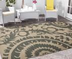 Floral Medallion 270x180cm UV Treated Indoor/Outdoor Rug - Cream 2