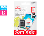 SanDisk Ultra 32GB MicroSDHC UHS-I Card w/ Adapter 1