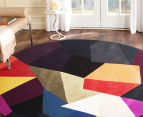 Harlequin 200cm Round Hand Tufted Wool Rug - Multi 2