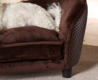 Enchanted Home Pet Plush Snuggle Bed - Brown 2