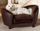 Enchanted Home Pet Plush Snuggle Bed - Brown 3