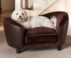 Enchanted Home Pet Plush Snuggle Bed - Brown 1
