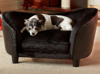 Enchanted Home Pet Plush Snuggle Bed For Small Dogs - Black 3