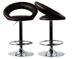 Audrina Bar Stool 2-Piece - Chocolate 2