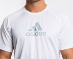 Adidas Men's Essential F Logo Tee - White 3