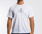 Adidas Men's Essential F Logo Tee - White 1