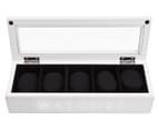 5-Compartment Wooden Watch Storage Box - White 1