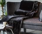 Deluxe Size 220x240cm Mink Blanket - Black 4