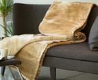 Deluxe Size 220x240cm Mink Blanket - Beige 4