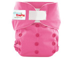 Ones&Twos Modern Cloth Nappy  - Pink 1