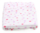 Grobag Polka Dot 120 x 55cm Swaddle - Pink 3