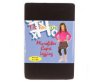 3 x Tic Tac Toe Girls' Microfibre Capri Tights - Black 1