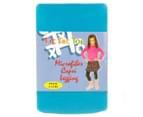 Tic Tac Toe Microfibre Capri Tights - Turquoise  1