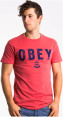 OBEY Men's Naval T-shirt - Red 4