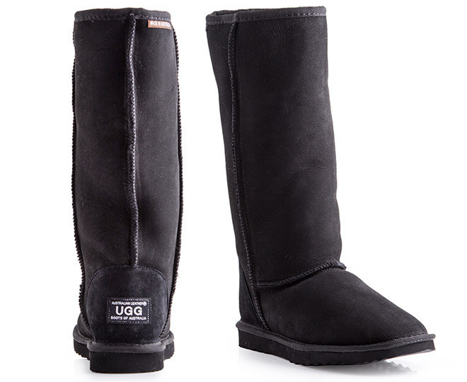 10928334d8d Long Black Leather Ugg Boots - cheap watches mgc-gas.com