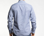Mossimo Men's Spike L/S Shirt - Navy 3
