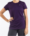 Nike Women's Miler S/S Running Shirt - Purple 4
