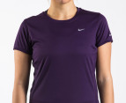 Nike Women's Miler S/S Running Shirt - Purple 2