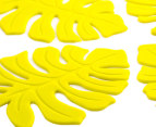Silicone Leaf Coasters 4-Pack - Lime 3