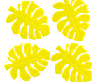 Silicone Leaf Coasters 4-Pack - Lime 2