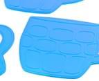 Silicone Mug Coasters 4-Pack - Aqua 3