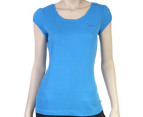 Women's Reebok Pointelle Tee - Blue 1