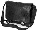 Coach Men's Signature Embossed Messenger - Black 2