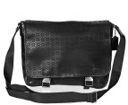 Coach Men's Signature Embossed Messenger - Black 1