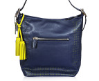 Coach Legacy Perforated Zip Duffle Hobo - Navy 1