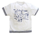 Dogwood Music Street T-Shirt - White/Blue - Size 5 1