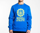 Russell Athletic Men's Campus Stamp Crew - Blue  1