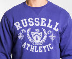 Russell Athletic Men's Vintage Crest Crew - Purple 3