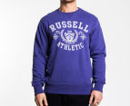 Russell Athletic Men's Vintage Crest Crew - Purple 1