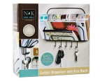 Wall Mount Letter Organiser & Key Rack 3