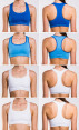 Champion Seamless Reversible Bras 2-Pack - White/Blue  4