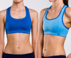 Champion Seamless Reversible Bras 2-Pack - White/Blue  3