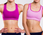 Champion Seamless Reversible Bras 2-Pack - Berry/White 3