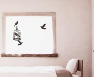 Black Bird 2 Decorative Wall Decal