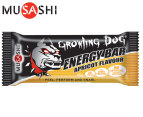 12 x Musashi Growling Dog Energy Bars Apricot 65g 2