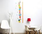 Safari Animal & Toy Height Chart Wall Decal/Sticker 2