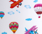 Old Planes & Hot Air Balloons Wall Decal/Sticker 2