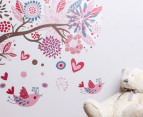 Children's Wall Decals - Retro Bird Tree Wall Decal 3