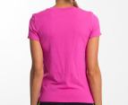 Champion Women's XM Short Sleeve Seamless Tee - Pink 3