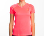 Champion Women's Training Tee - Neon Coral 1