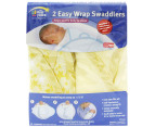 2 x The First Years Easy Wrap Swaddler - Yellow Star 3