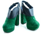 Luxe Dolcie Block Heel Shoes - Blue/Green - Euro Size 38 3