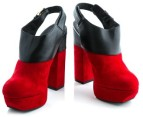 Luxe Dolcie Block Heel Shoes - Red - Euro Size 39 3