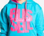 Russell Athletic Women's Fusion Hoodie - Aqua - Womens 8 3